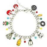 J&C Family Owned Brand Star Wars A New Hope Charms Lobster Clasp Bracelet w/Gift Box