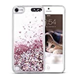 Maxdara iPod 5 Case, iPod 6 Case, Glitter Liquid Floating Bling Sparkle Quicksand Case for Girls Children for Apple iPod Touch 5th/6th Generation (Rosegold)