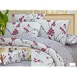 DaDa Bedding DC68x86M8318 2-Piece Floral Cotton Duvet Cover Set, Twin