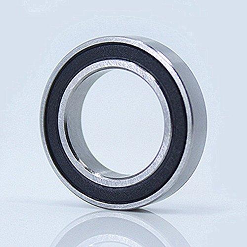 2 Pieces 6800-2RS Ceramic Bearing 10x19x5mm 61800 Si3N4 Ceramic Ball (6800rs Bearing)
