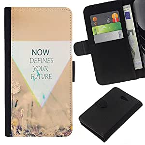 All Phone Most Case / Oferta Especial Cáscara Funda de cuero Monedero Cubierta de proteccion Caso / Wallet Case for Sony Xperia M2 // Not Nature Defines Inspiring Moment