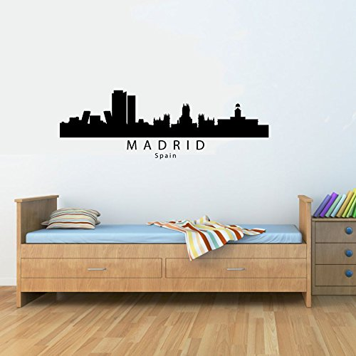 Madrid Spain city skyline Vinyl Wall Decals Quotes Sayings Words Art Decor Lettering Vinyl Wall Art Inspirational Uplifting by Slap-Art