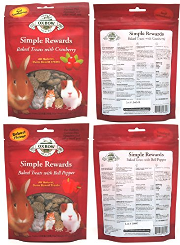Oxbow Simple Rewards All Natural Oven Baked Treats for Rabbit, Guinea Pigs, Hamsters, and Other Small Animals Variety Pack - 6 Flavors by Oxbow Animal Health (Image #2)