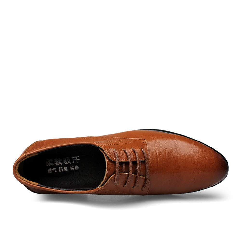 FuweiEncore 2018 2018 2018 Uomo Business Oxford Casual Nuovo Invisibile Dentro Aumenta Classic Formal scarpe (colore  Nero, Taglia  43 EU) (colore   Marrone, Dimensione   43 EU) cea45a