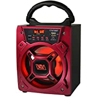 6 200 Watts Portable Multimedia Speaker & Changing Colored Light - Red