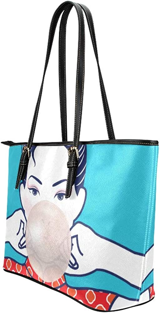 Hand Travel Bag For Men Sweet Cute Colorful Bubble Gum Candy Leather Hand Totes Bag Causal Handbags Zipped Shoulder Organizer For Lady Girls Womens Shoulder Bags For Men