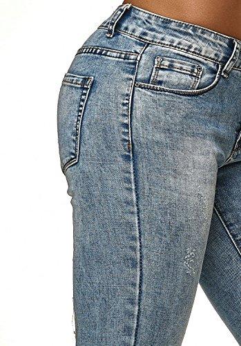 Skinny Tubo Jeans Donna Pantaloni D2239 Estensibile Blu 6S6U7Hq