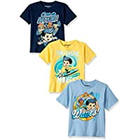 Nickelodeon Boys' Toddler Bubble Guppies B 3-Pack Short Sleeve T-Shirt,