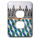 Danita Delimont - Patterns - Portugal, Sintra National Palace, geometric ceramic tile mural - Light Switch Covers - 2 plug outlet cover (lsp_227831_6)