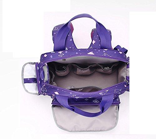 Mummy bolsa multifuncional de gran capacidad multi-compartimento impermeable impermeable pulsera bolsa de bebé bolsa ( Color : Khaki ) Vino rojo