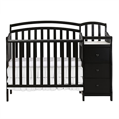 Dream On Me Casco 3 in 1 Mini Crib and Dressing Table Combo Black