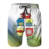 Qinf New Cartoon Fashion Coat Of Arms Of Aruba Summer Beach Pants Casual Shorts For Man