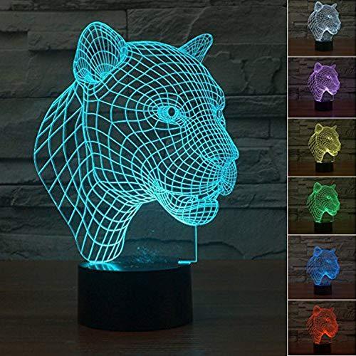 leopard table lamp - 9