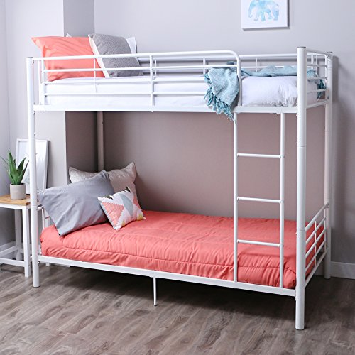 68 Best Images About Loft Beds On Pinterest: New Sunrise Metal Twin-over-Twin Bunk Bed In White Finish