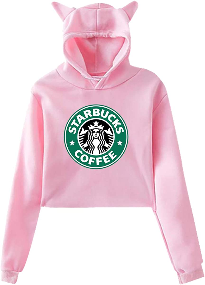 Mens Casual Summer Starbucks Logo Cotton Hoodie Shirt Short Sleeve Sports Pull-Over Hoodies Sweatshirt Youth