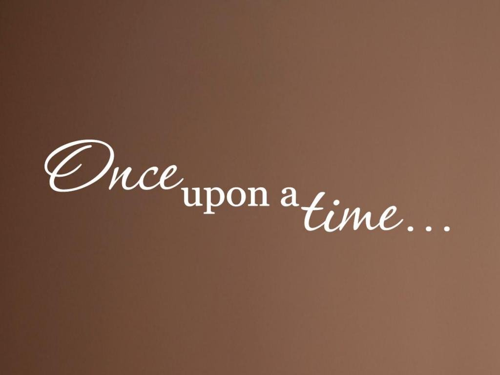 """Vinylsay 1310.Once-M.White -33x7.5""""Once Upon a Time"""" Wall Decal, 33-Inch by 7.5-Inch, Matte White"""