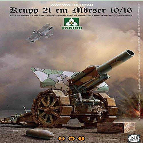 Plastic Model Kit #2032 2 in 1 Takom 1:35 German Krupp 21cm Morser 10//16