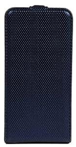 Akashi funda con tapa para iPhone 4/4S Bling azul