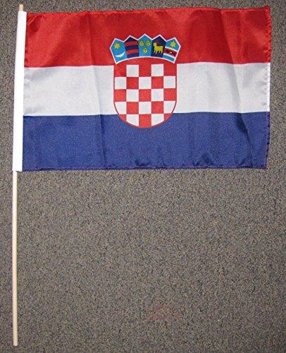 - Croatia Flag 12x18 Inches 12 X 18 Croatian Wood Stick New W54
