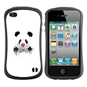 Be-Star Impreso Colorido Diseño Antichoque Caso Del iFace Primera Clase Tpu Carcasa Funda Case Cubierta Par Apple iPhone 4 / iPhone 4S ( Funny Panda Clown Graphiti )