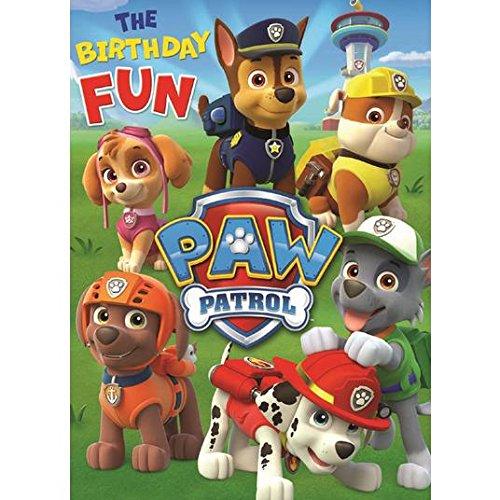Paw Patrol - Tarjeta de felicitación de cumpleaños: Amazon ...