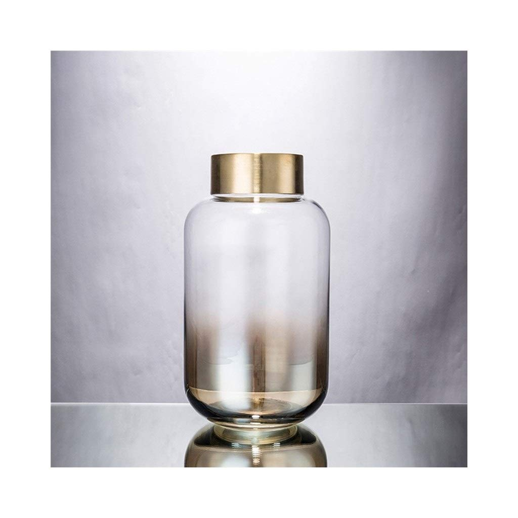 現代のガラス花瓶の花瓶は吹き飛ばされた家の工芸品です (Size : 16cm*30cm) B07SPG8M6L  16cm*30cm