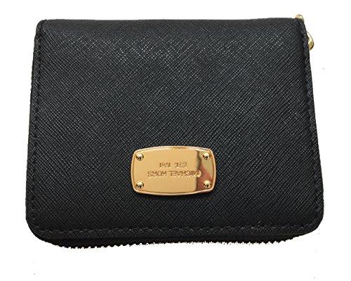 Michael Kors Jet Set Travel Zip Around Bifold Leather Wallet - Black Friday Mk