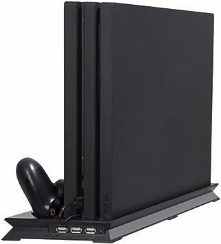 PS4 Slim Ventilador Vertical Estación de acoplamiento de soporte ...