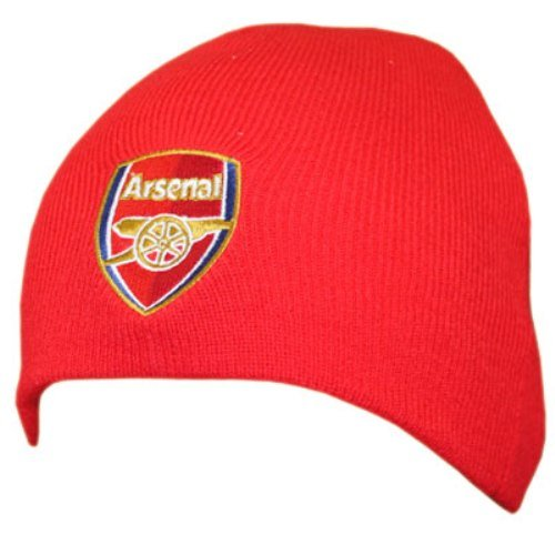 ARSENAL FC Official Knitted Hat RD Red Beanie