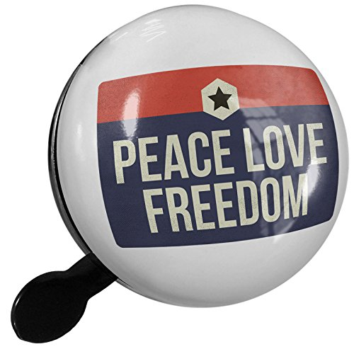 Small Bike Bell Peace Love Freedom Fourth of July Patriotic Star - NEONBLOND by NEONBLOND