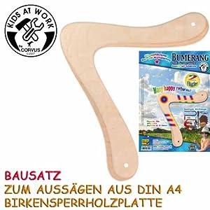 Bumerang 2 Flügler A 600527 Bausatz Din A 4 aus Holz mit Schablone und...