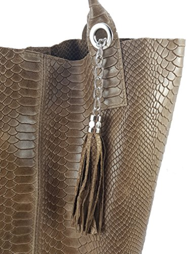 Made Taupe Snake In Bag Tote Freyfashion Women's Italy H6dqYwY