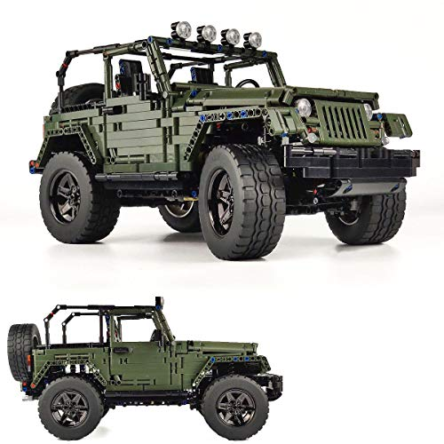 OneNext True Representation Wrangler 1:8 Scale Off-Road Pickup Car MOC Technique Building Blocks Set,Building Project for Adults Collectible Model, Truckr Engineering Toy(2100+pcs)