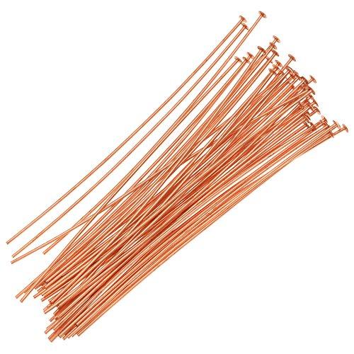 - Beadaholique 720Q-2.00 50-Piece Head Pins, 24-Gauge, 2-Inch, Copper