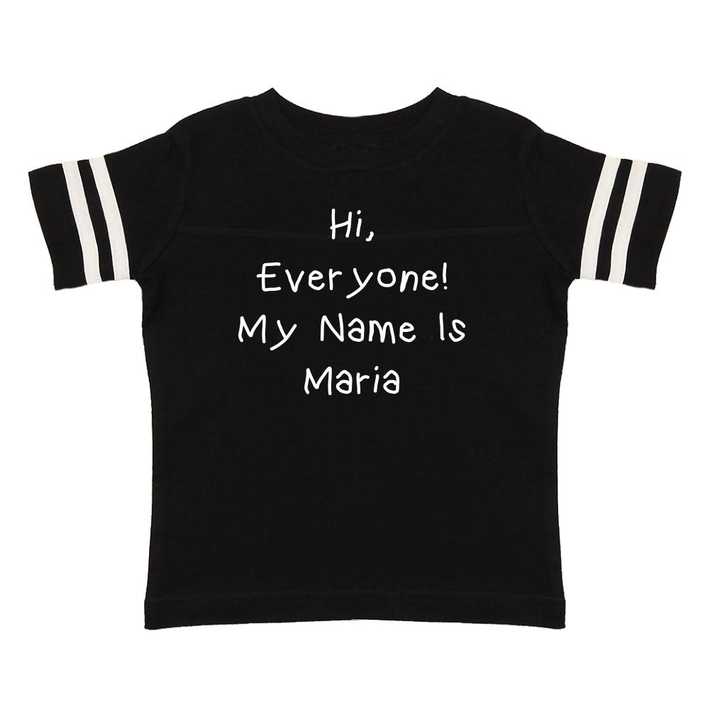 Mashed Clothing Hi My Name is Maria Personalized Name Toddler//Kids Sporty T-Shirt Everyone