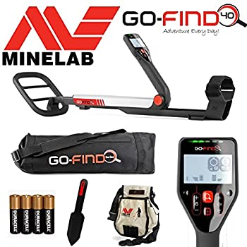 Minelab Go-find 40 Metal Detector With Carry Bag, Digging Trowel, Finds Pouch & Batteries 0