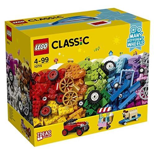 51oClcvQ9jL. SS500 Contiene una amplia variedad de ruedas LEGO, así como un surtido de ladrillos y elementos LEGO especiales en vistosos colores que incluye formas y ojos. Este set de construcción LEGO Classic fomenta la creatividad sin límites y desarrolla la imaginación. Incluye instrucciones de construcción adaptadas a distintas franjas de edad y clasificadas en 3 niveles de complejidad.