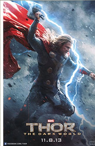 The Avengers Thor Dark World Chris Hemsworth as Thor Smashing Down 11 x 17 Movie Poster Litho and with FREE COMIC CON GIFT! from The Avengers