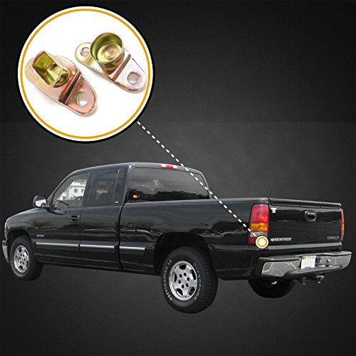 1992-1998 Compatible with Chevy GMC C1500 K 1500 Full Size Truck Left and Right Tailgate Hinge Replacement Kit Body Side Only