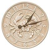 Whitehall Products Crab Sealife Clock 16'' Diameter