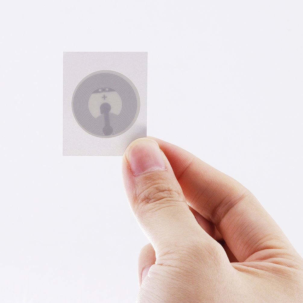 TimesKey NTAG213 Etiquetas NFC Etiquetas NFC 25 mm Etiqueta en blanco circular NFC en blanco grabable y programable) 144 bytes Compatible con memoria Todos los demás dispositivos habilitados para NFC-Paquete de 100 (redondo)