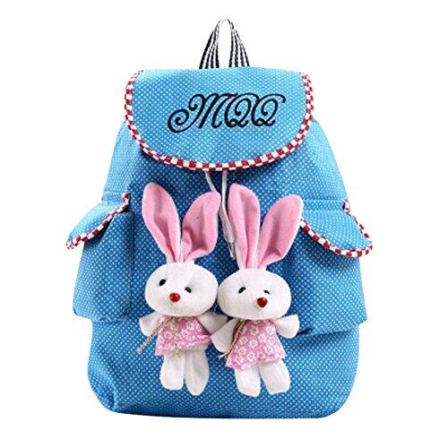 Your Gallery Girl Cute Kawaii Rabbit Canvas Backpack Leisure Campus Travel Rucksack Satchel