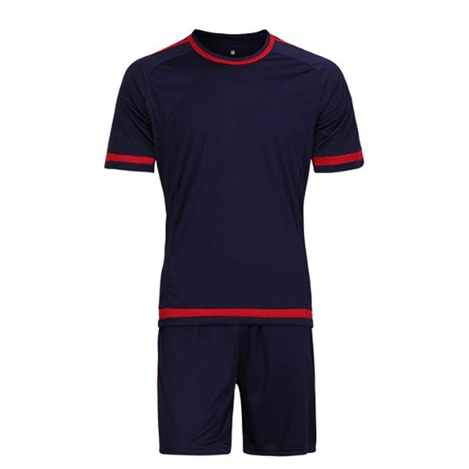 Aiweijia Conjunto de Ropa Deportiva de Entrenamiento de Fútbol de Jersey de  Fútbol de los Hombres Completo Traje de Correr  Amazon.es  Ropa y accesorios 67bb253cf1de9
