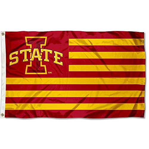 Iowa State Cyclones Stars and Stripes Nation Flag