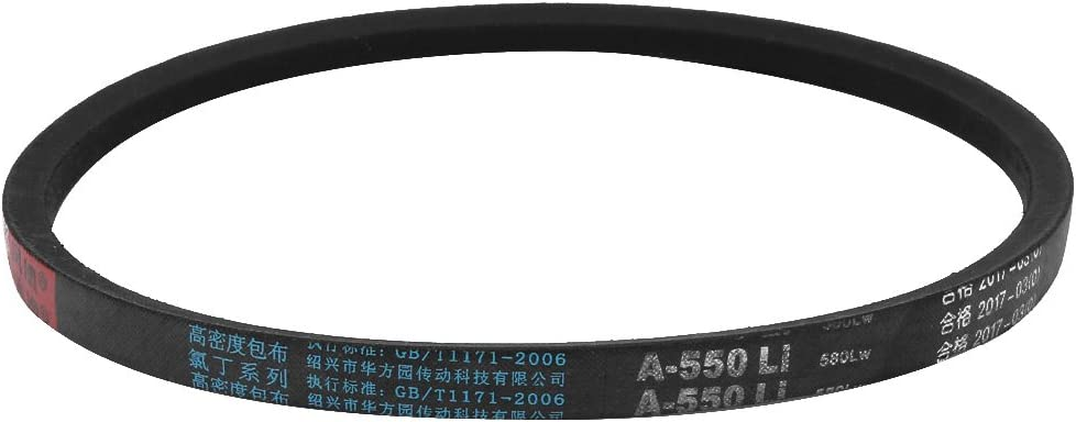 uxcellA550 Rubber Transmission Drive Belt V-Belt 8mm Thick 550mm Inner Girth for Washing Machine