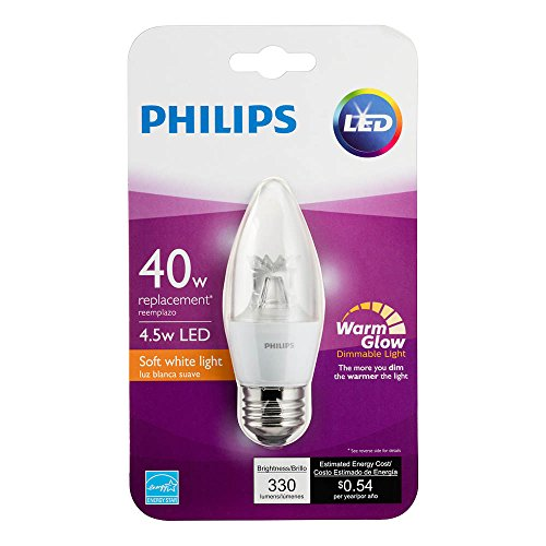 philips led b12 warm glow dimmable 330 lumen 2700 2200 import it all. Black Bedroom Furniture Sets. Home Design Ideas