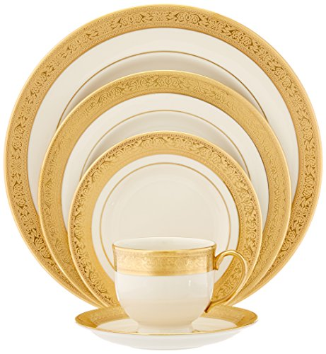 (Lenox Westchester Gold-Banded 5-Piece Place Setting, Service for 1)