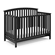 Graco Freeport 4-in-1 Convertible Crib, Black, Easily Converts to Toddler Bed Day Bed or Full Bed, Three Position Adjustable Height Mattress, Some Assembly Required (Mattress Not Included)