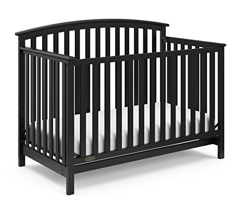 Cheap Graco Freeport 4-in-1 Convertible Crib, Black, Easily Converts to Toddler Bed Day Bed or Full Bed, Three Position Adjustable Height Mattress, Some Assembly Required (Mattress Not Included)