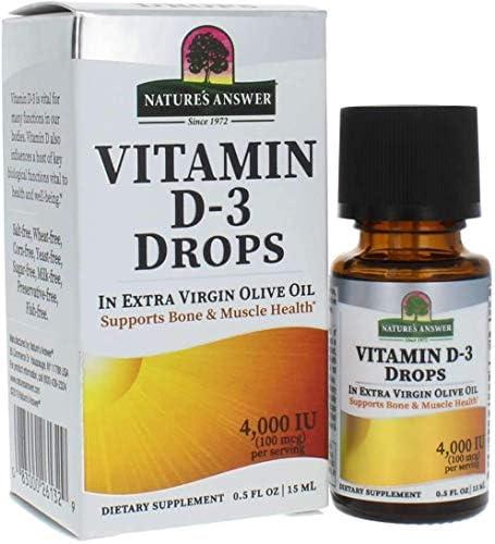 فيتامين D 3 قطرات من نيتشرز انسر 14 جرام 4000 وحدة دولية Amazon Ae